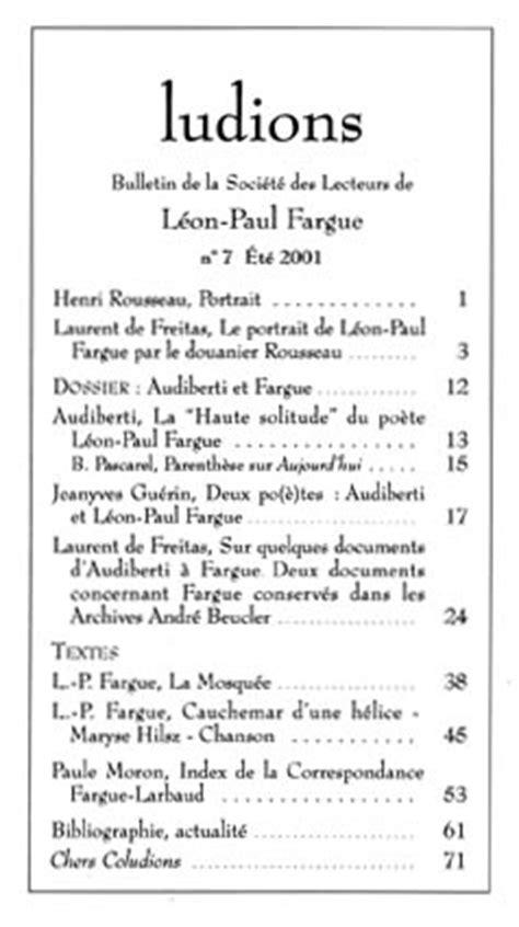 FARGUE - ASSOCIATION - LUDIONS