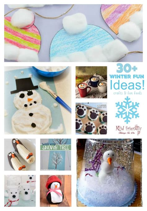 crafts winter 30 winter themed food ideas and easy crafts
