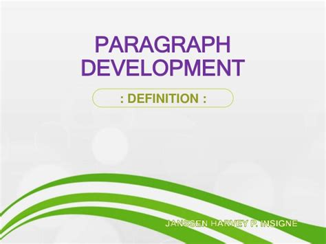 definition pattern of paragraph development paragraph development definition
