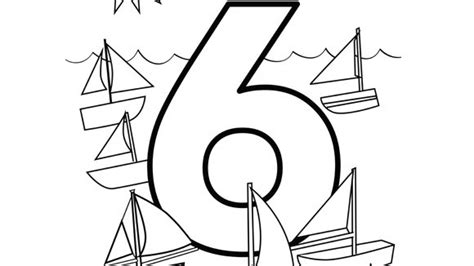 coloring pages for the number 6 number series six grandparents com