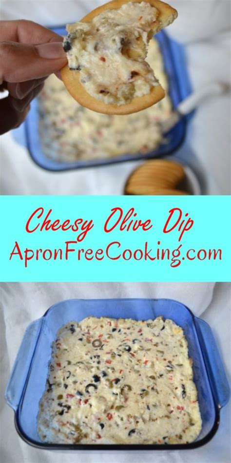 Cook Bake Apron Olive easy cheesy olive dip apron free cooking