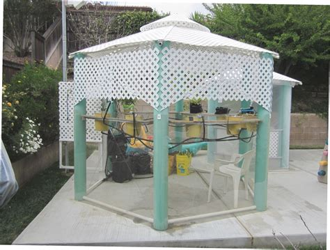 pvc pavillon pvc pipe gazebo gazebo ideas
