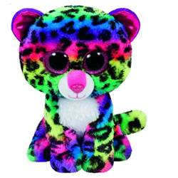 beanie boos dotty multicoloured leopard toys