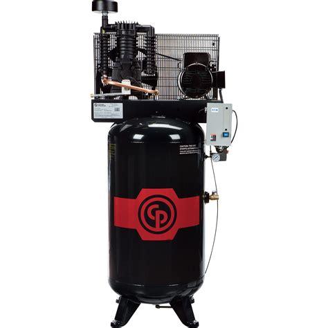 free shipping chicago pneumatic reciprocating air compressor 5 hp 80 gallon 208 230 volt