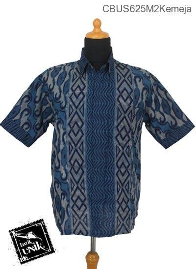 Kemeja M2 Baju Batik Sarimbit Kemeja Katun Motif Baris Gelombang