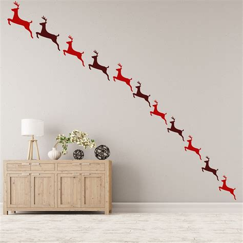 Reindeer Christmas Creative Multipack Wall Stickers Wall Decorations