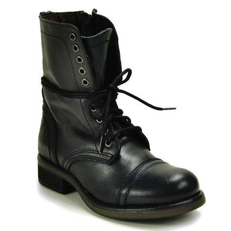 combat boots steve madden combat boot in black lyst