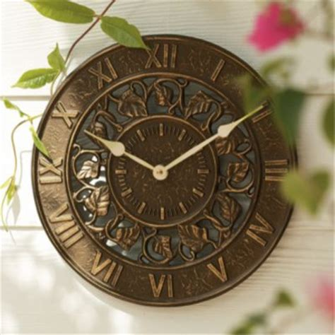 Garden Clock by Outdoor Clock Thermometer Outdoor Clocks By