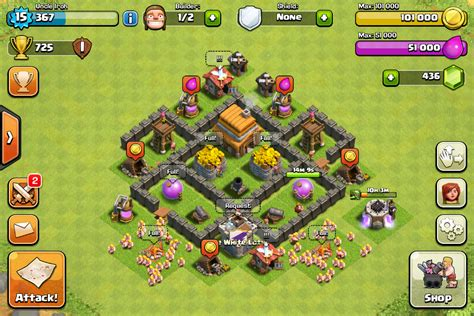 coc layout beginner clash of clans