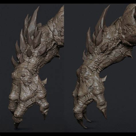 zbrush tutorial creature unreal engine 3 game project giant monster cg sculpts