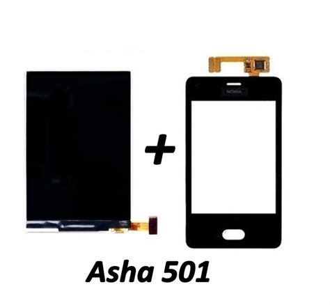 display lcd touch screen nokia asha 501 n501 original