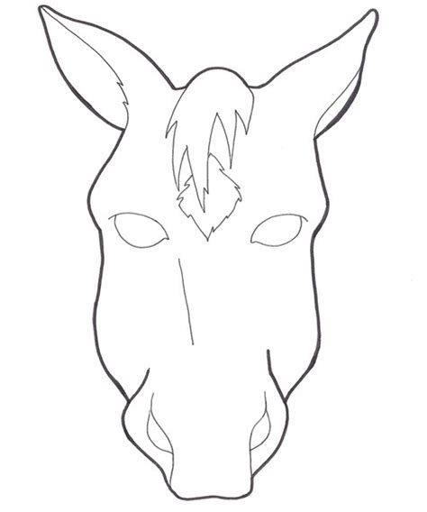 printable horse mask template 8 best images of horse face template printable horse