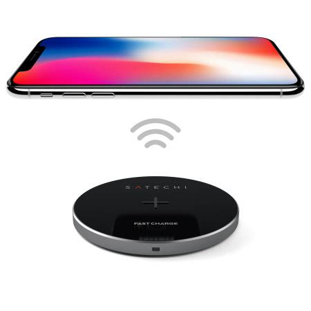 satechi portable universal qi fast wireless charging pad
