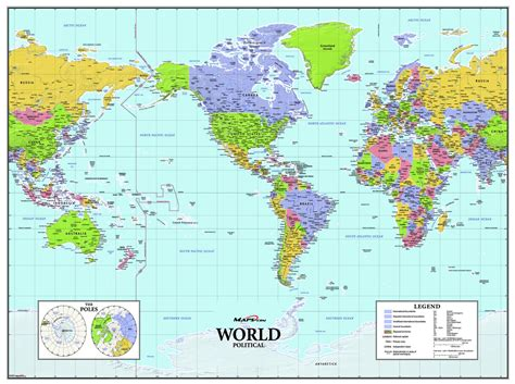 the americas map america centered world wall map maps