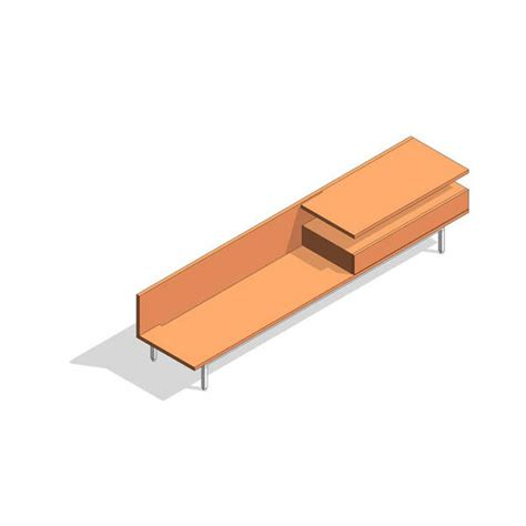 coalesse bench revitcity com object coalesse denizen bench w shelf