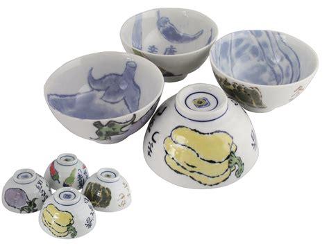 Japanese Kitchen Bowls Charming Japanese Kitchen Story Ceramic Rice Bowls Set For