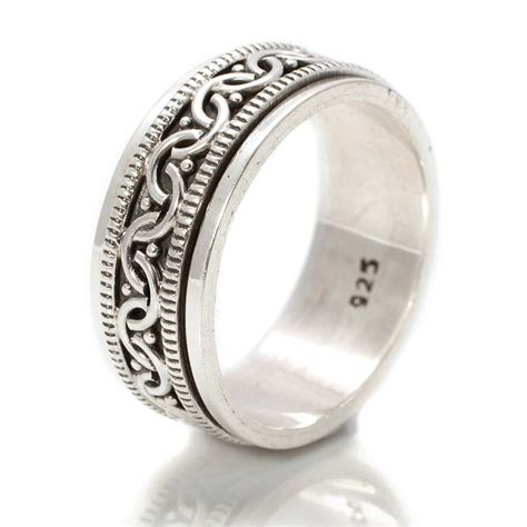 Silver Rings by Celtic Silver Spinning Ring By S Web Jewellery