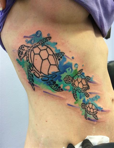 watercolor tattoos milwaukee watercolor sea turtles by chris burke at serenity