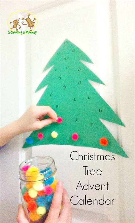 advent crafts for pom pom tree advent calendar trees crafts and