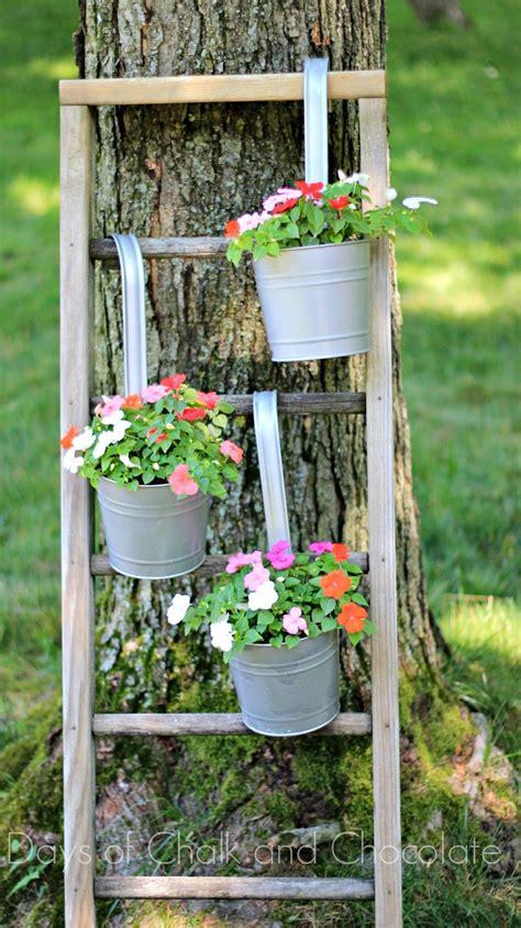 diy galvanized planters  ladder plant stand days