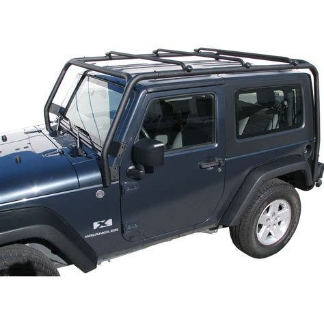 Jeep Yj Roof Rack J021 Trail Fx Black Roof Rack Jeep Wrangler 2 Door 2007
