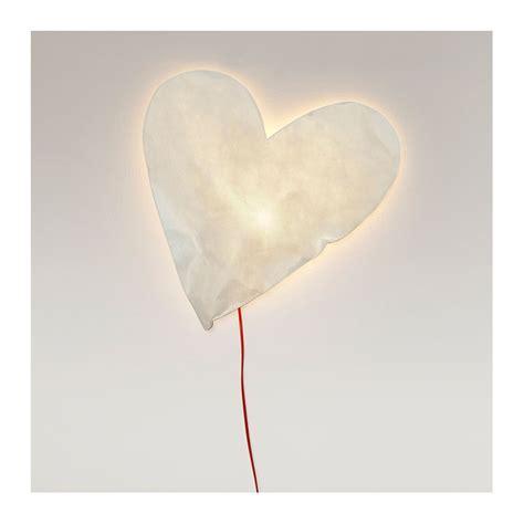 le applique applique lumineuse coeur en papier par raumgestalt