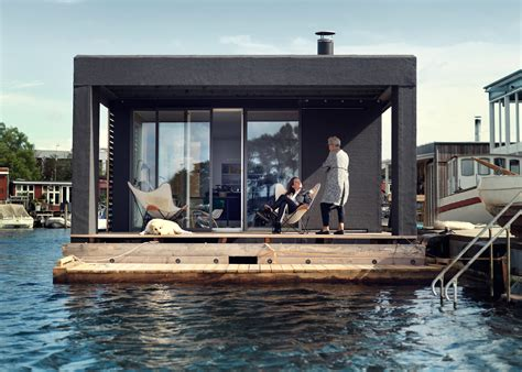 mini house boat 753 sq ft modern houseboat