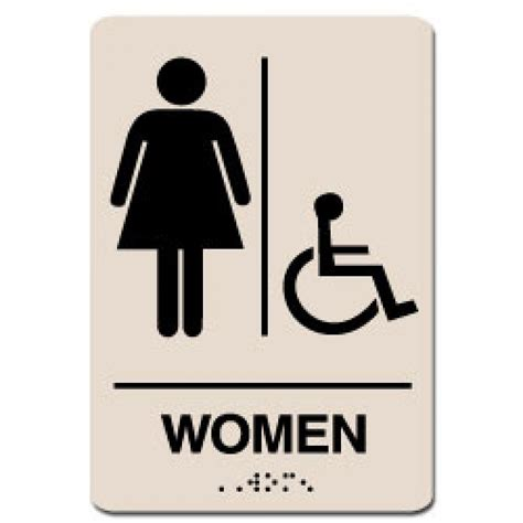 Ada Bathroom Sign by Handicap Restroom Sign