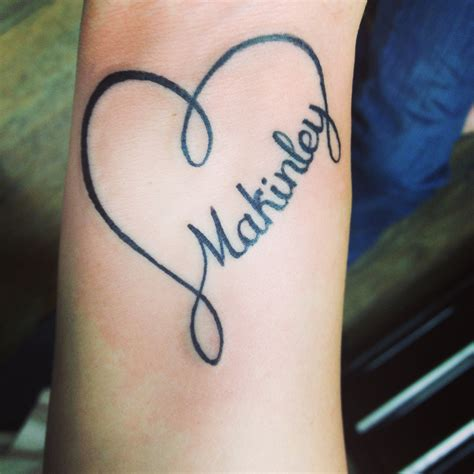 image gallery heart tattoos with names