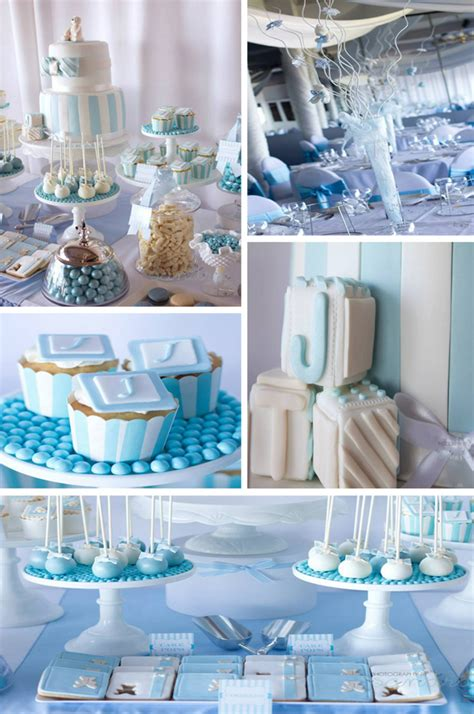 party themes with blue kara s party ideas blue christening first birthday party