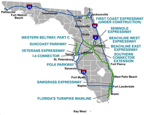 map of florida turnpike service plazas florida s turnpike the less stressway