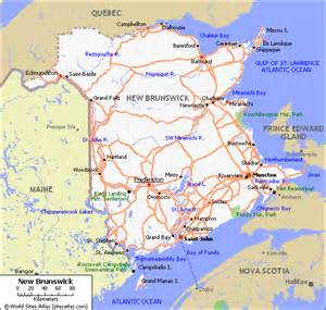map new brunswick canada map of roads of new brunswick maps of canada provinces