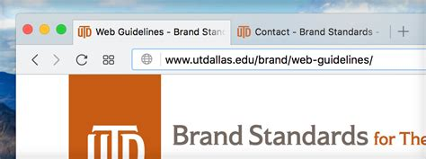 Utd Mba Requirements by Web Guidelines Brand Standards The Of