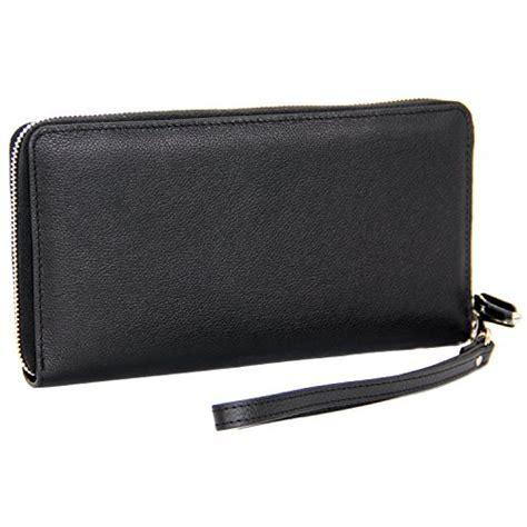 Women RFID Blocking Wallet Genuine Leather Zip Around