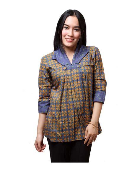 Jas Tanpa Kerah Ba59208 Blus Batik Kerah Jas Batik Distro