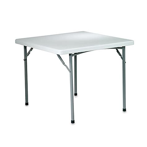 36 folding table resin folding 36 inch square table bed bath beyond