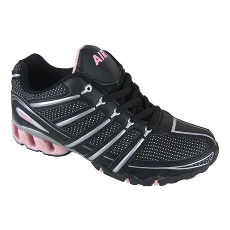 shock absorbing athletic shoes womens shock absorbing running trainer black pink trainers