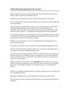 Essay Topics For Toefl 2012 by Toefl Speaking Topics Practice Questions Preparation Tips