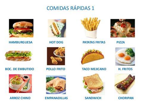 imagenes de comidas en ingles y español 9 comida r 225 pida o fast food