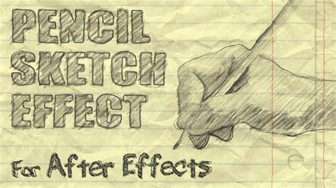 handwriting template after effects pencil sketch effect after effects youtube