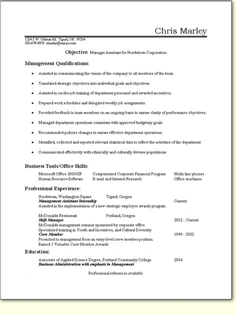 Ba Resume Exles by Ba Resume Sle