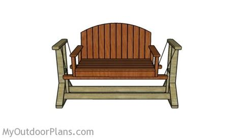 swing bench plans myoutdoorplans  woodworking