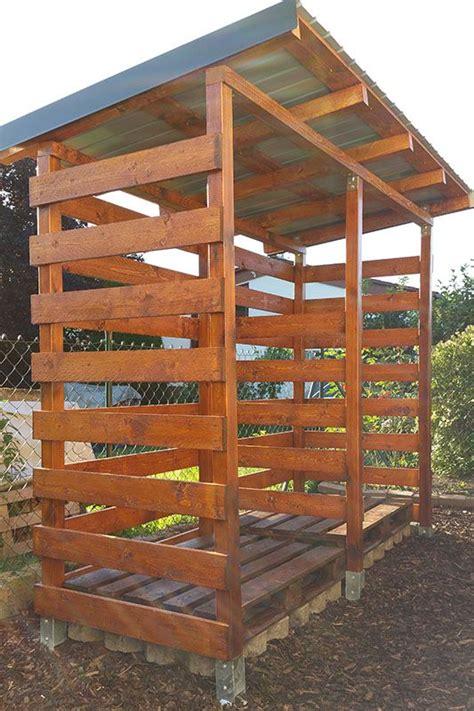 bauanleitung unterstand holz einen stabilen brennholzunterstand brennholzschuppen gut