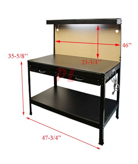 multi tool bench multipurpose workbench w lighting 3 outlet plug tool
