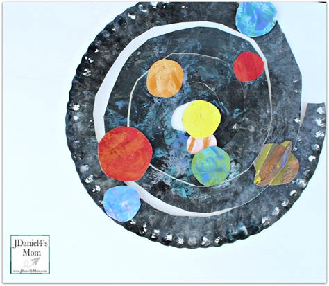 solar system crafts for planet crafts paper plate solar system spiral