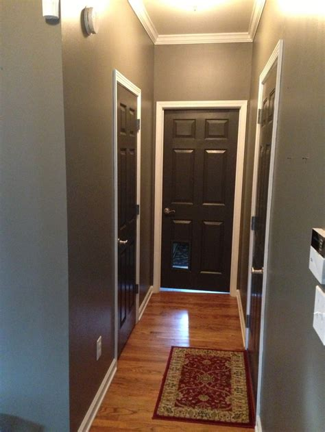 gray walls white trim grey walls and black brown doors crisp white trim home interior remodel