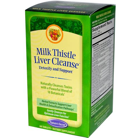 Milk Thistle And Liver Detox by Nature S Secret Milk Thistle Liver Cleanse 60 Tablets
