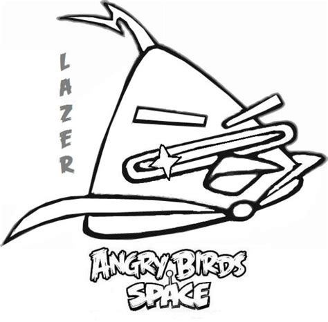 lazer bird coloring page coloring page angry bird space lazer angry birds