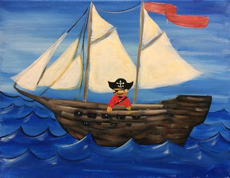 spray paint pirate ship birthday paintings graffiti paintbar