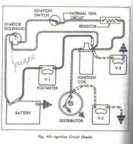 ballast resistor starter circuit ballast resistor corvetteforum chevrolet corvette forum discussion